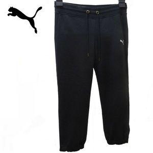 PUMA Sweat Capri Black Small With Calf Zipper Gym